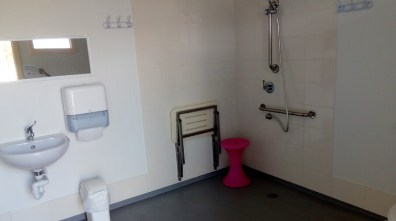 Disabled shower and toilet