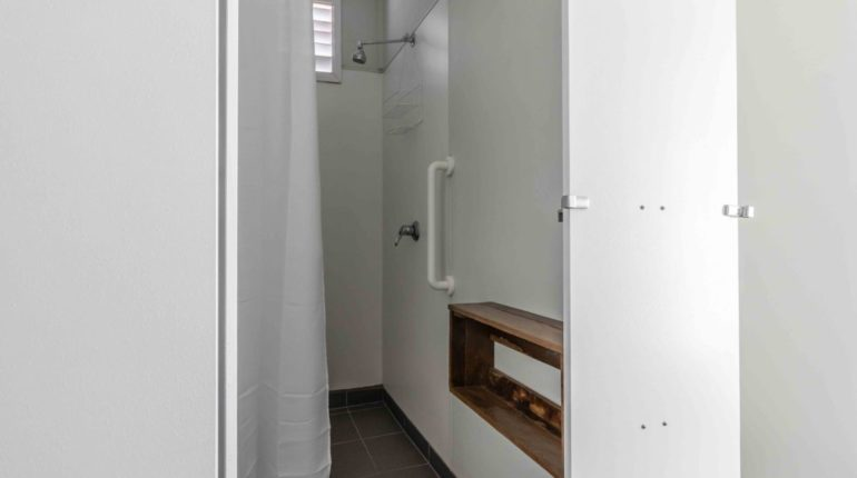 Shower in shared amenities